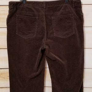 Coldwater Creek Pants - Coldwater Creek Brown Stretch Corduroy Pants 18 L